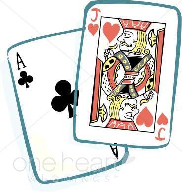Blackjack Cards Clipart.