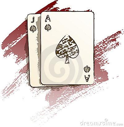 Blackjack Card Clipart.