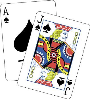 Blackjack Clipart.