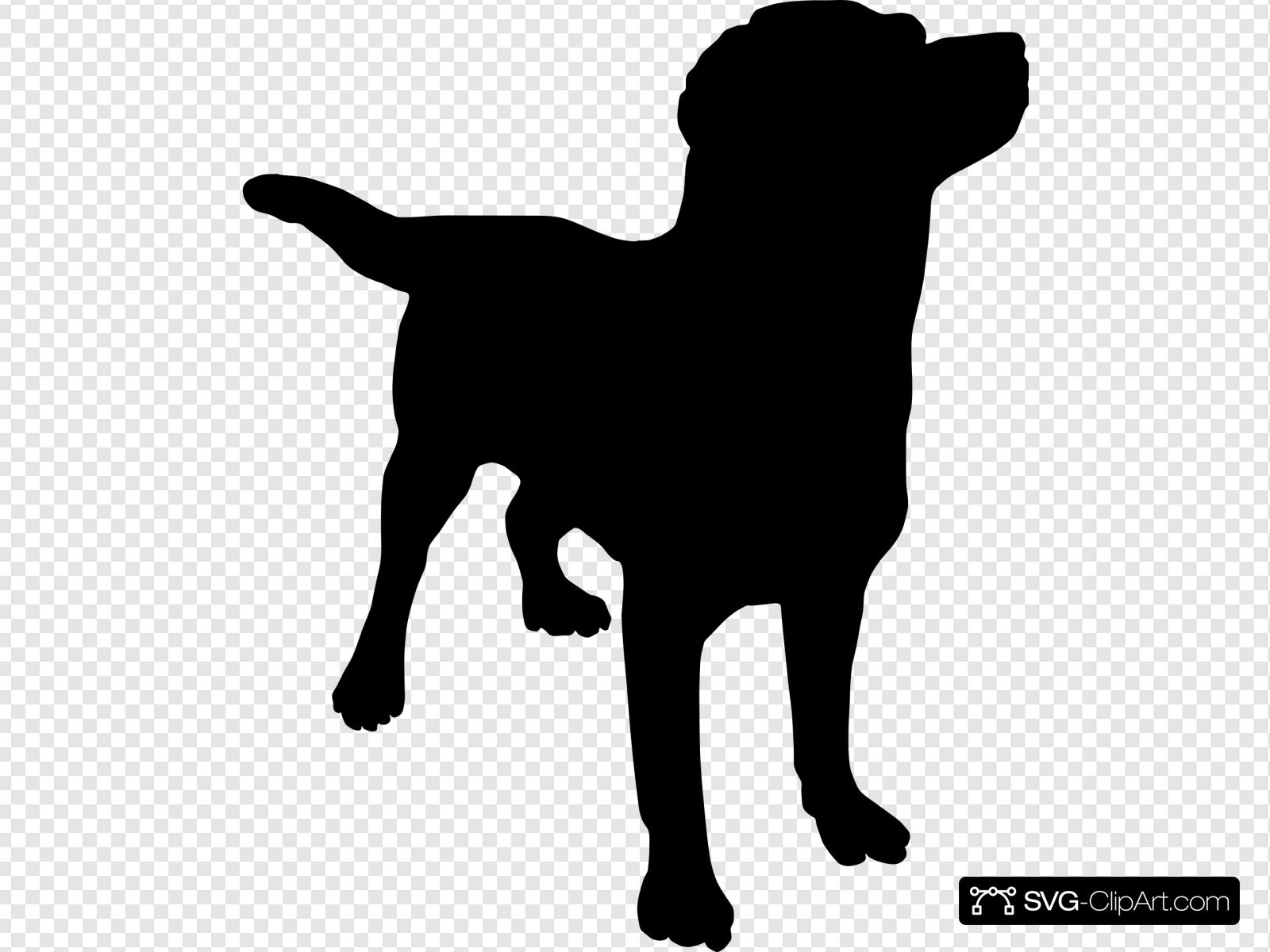 Black Lab Silo Clip art, Icon and SVG.