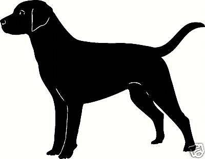 Details about Dog outline Vinyl Decal car truck sticker.