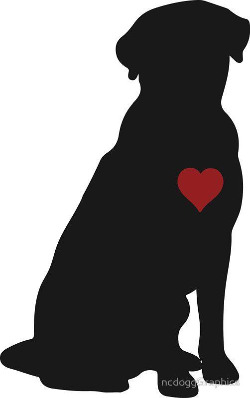 Labrador Retriever Silhouette.