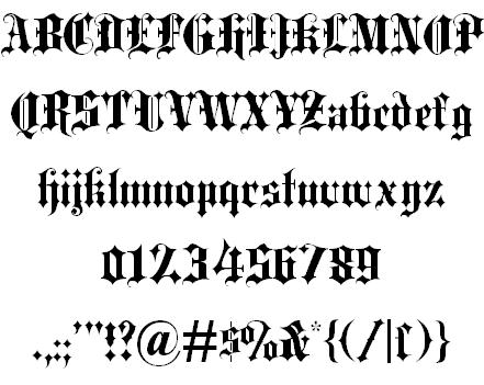 Blackletter font free download Ⓐ AllBestFonts.com.