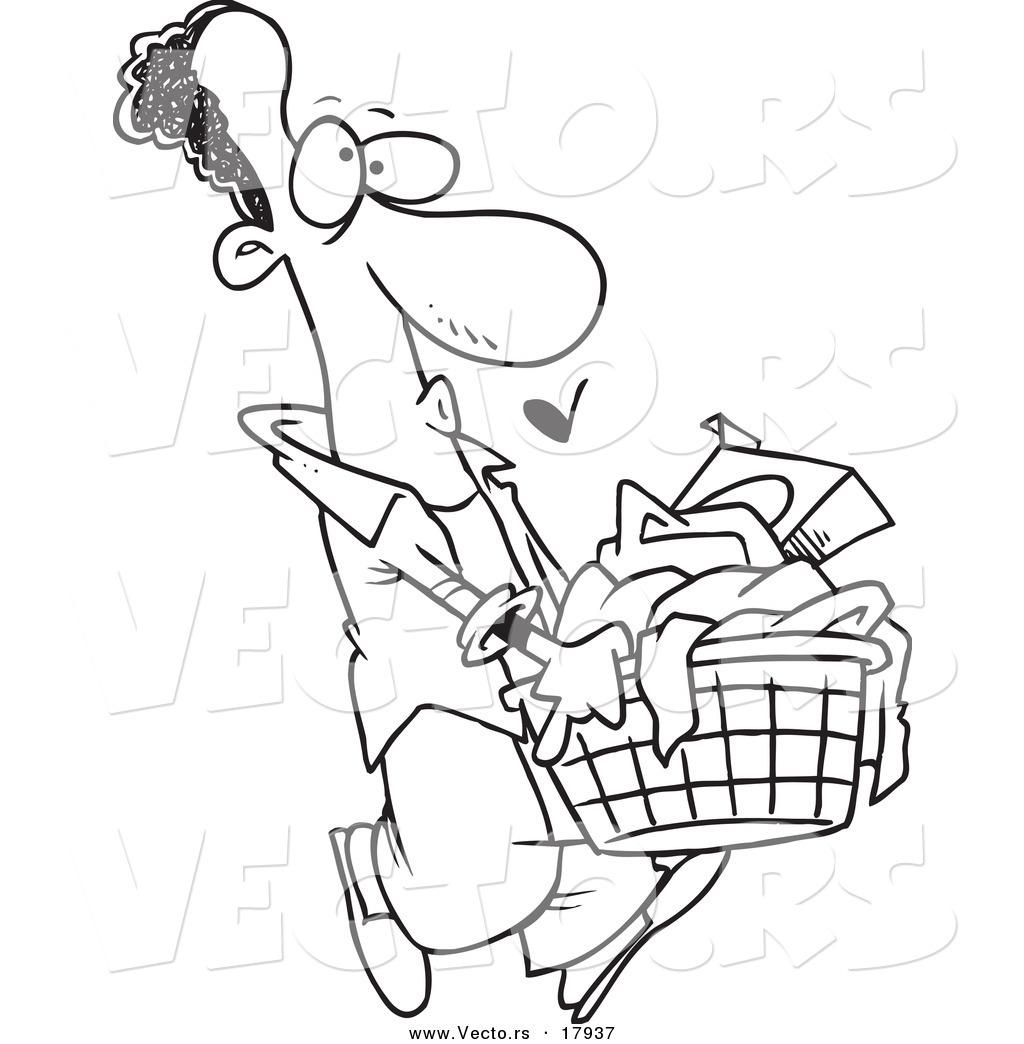 Laundry Man Clipart.