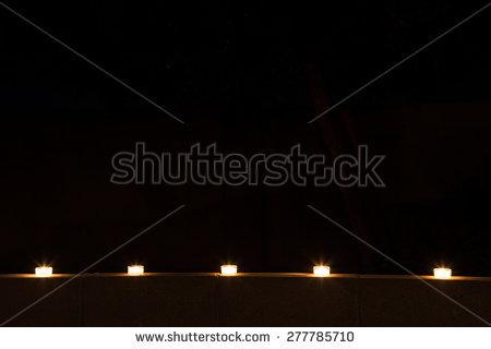 Candles Row Tea Light Stock Photos, Royalty.