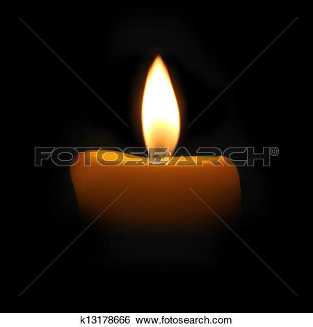Stock Images of yellow candle in a dark room k13178666.