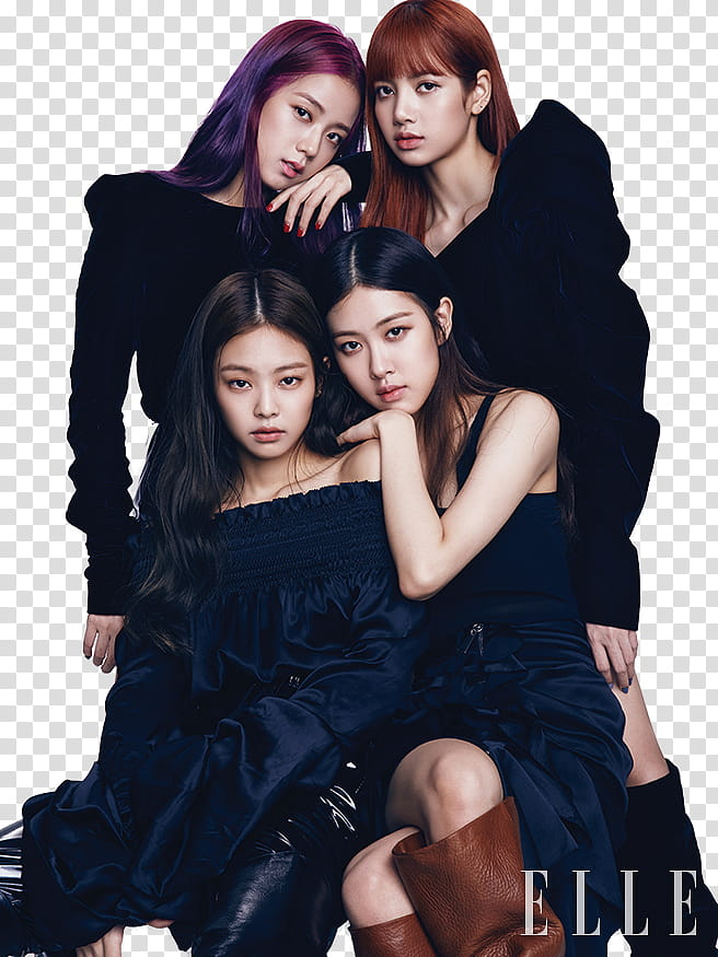 BLACKPINK, Black Pink group transparent background PNG.