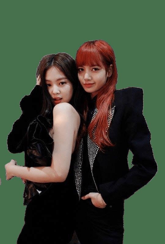 Blackpink Jennie and Lisa transparent PNG.