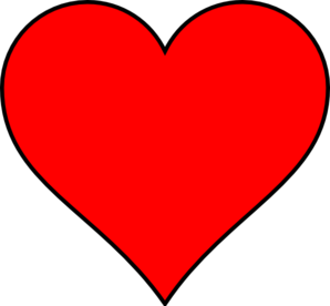 Red And Black Heart Outline.