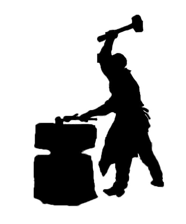 blacksmith silhouette clip art.