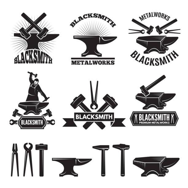 Best Blacksmith Illustrations, Royalty.