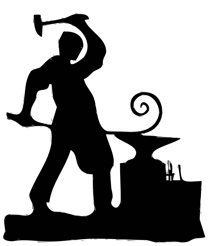 Free Blacksmith Clipart Black And White, Download Free Clip.