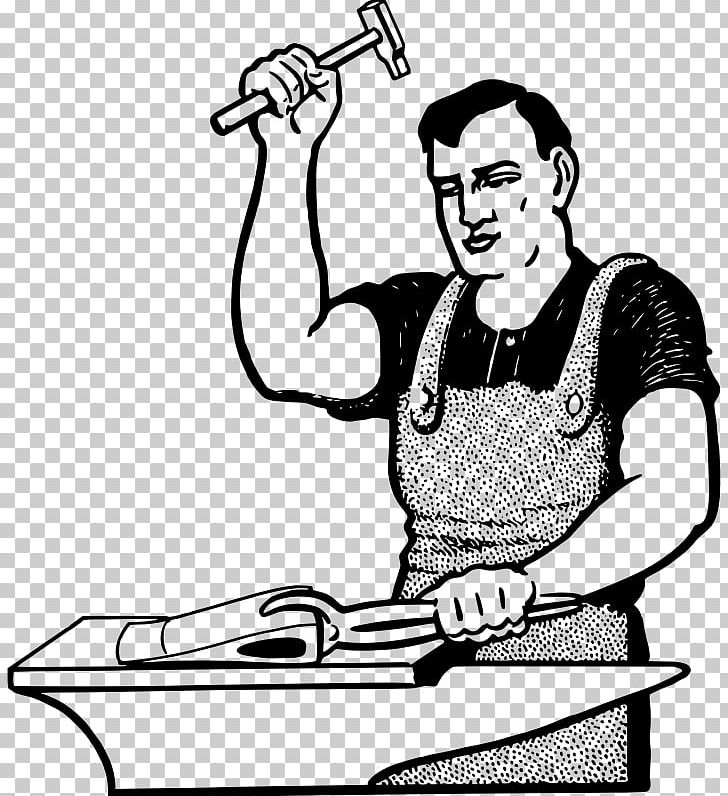 Blacksmith Line Art PNG, Clipart, Anvil, Arm, Art, Artwork.