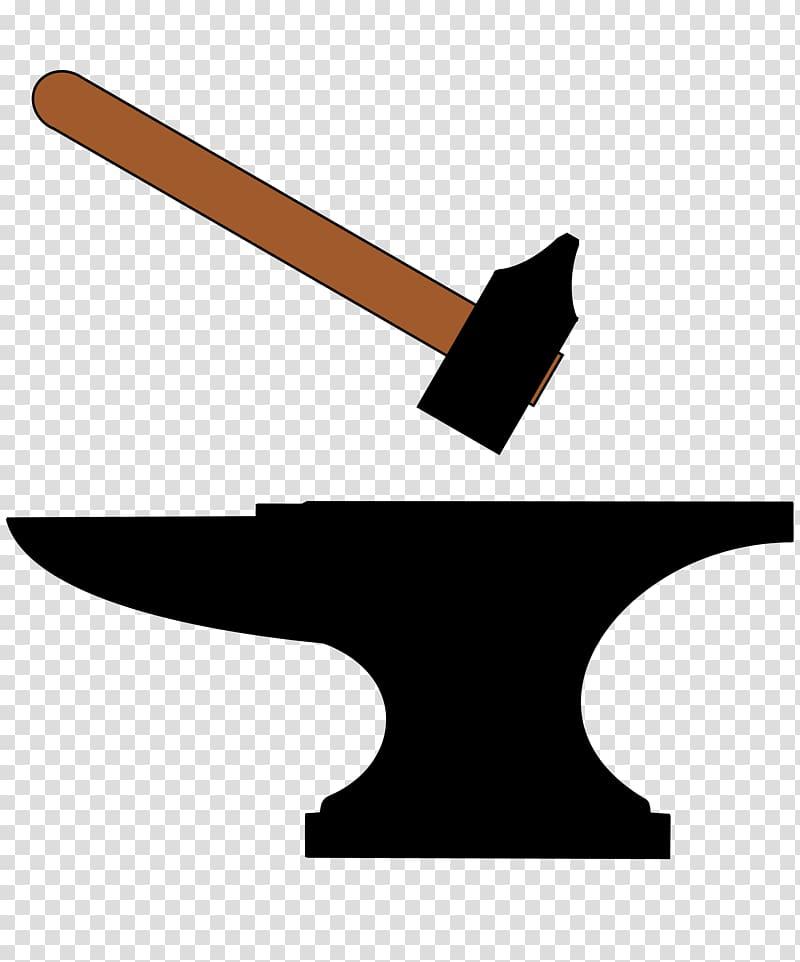 Blacksmith Anvil Forge Hammer , falling transparent.