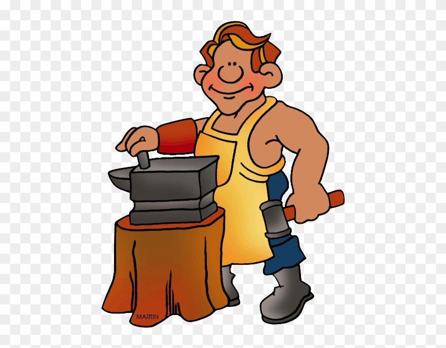 Medieval Clipart Blacksmith.