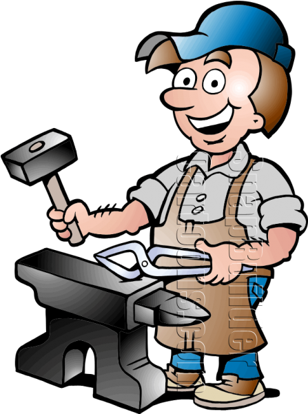Our Helpers Blacksmith Clipart.