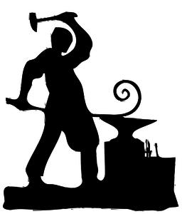 Blacksmith silhouette.