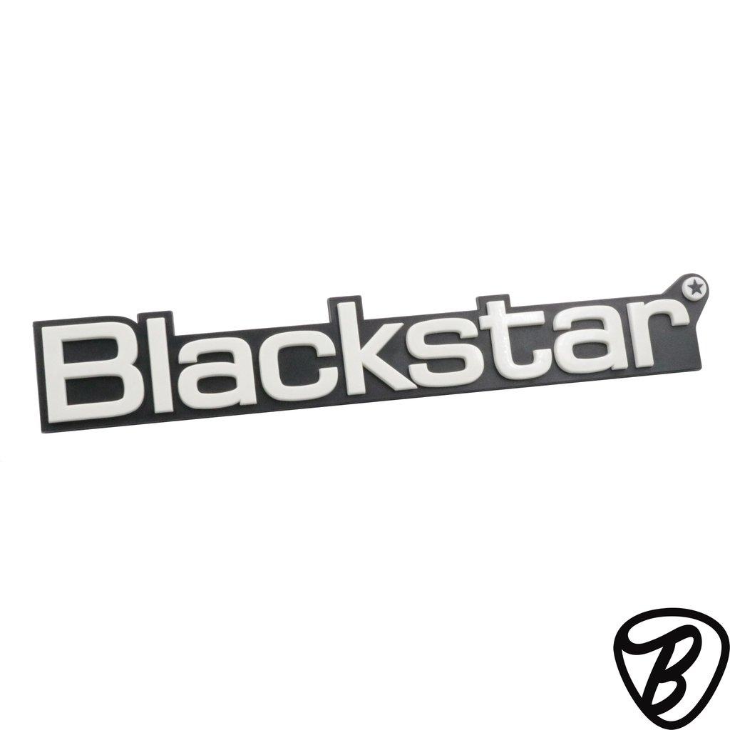 Blackstar Large White Amp Logo.