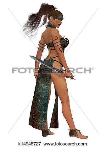 Stock Illustration of Blackthorn Woman Warrior k14948727.