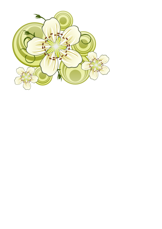Free Clipart: Flowers of blackthorn.
