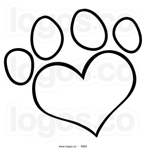 Free Heart Clip Art In Black And White.
