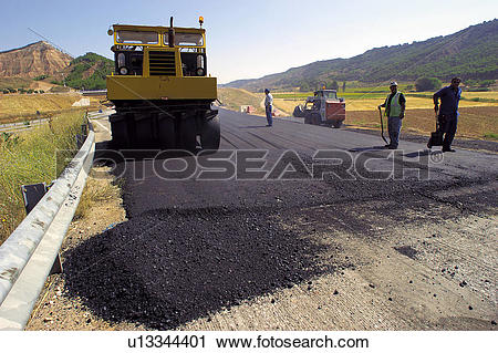 Stock Photography of Construction, Worker, Workers, Asphalt.