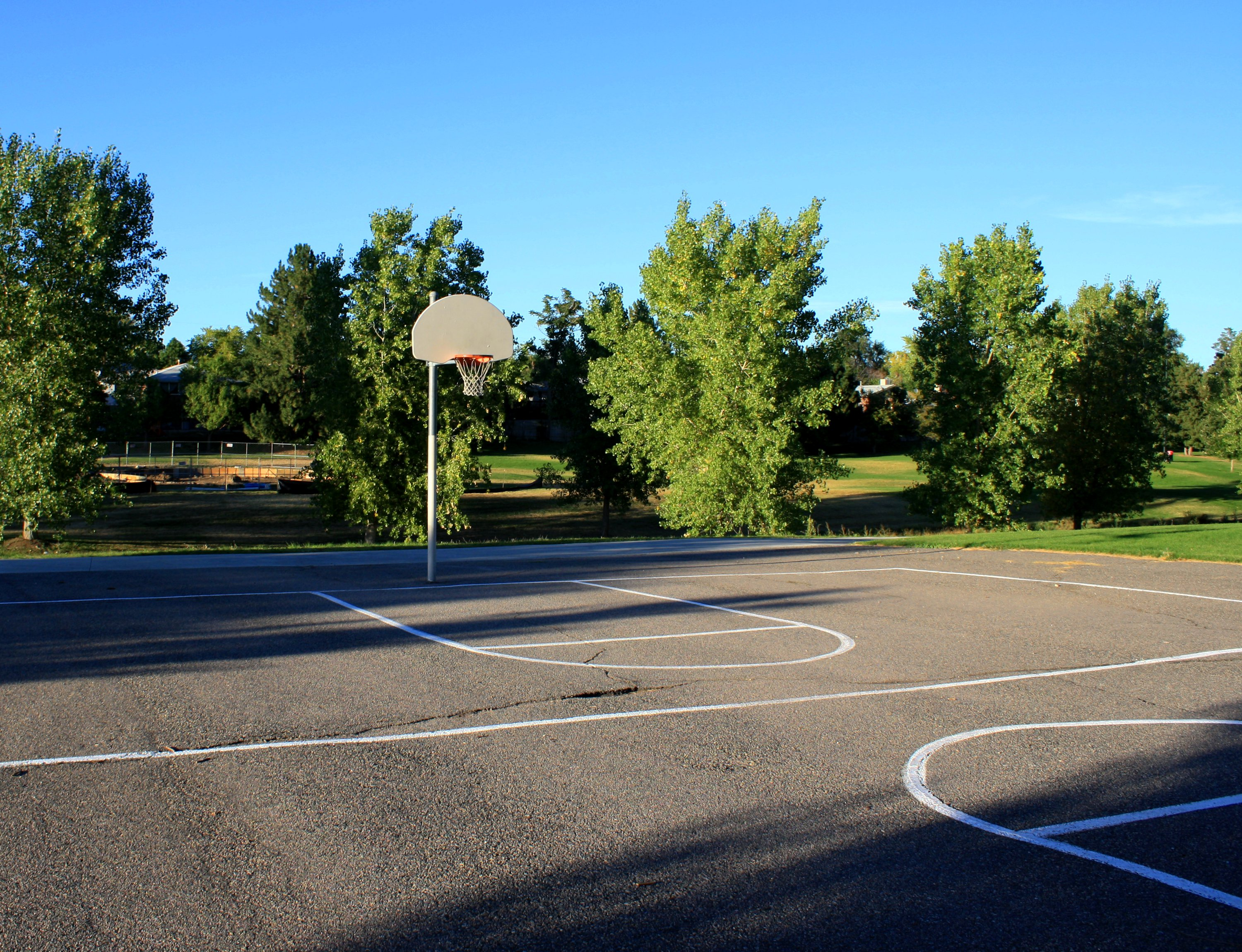 Outdoor Basketball Court Picture.
