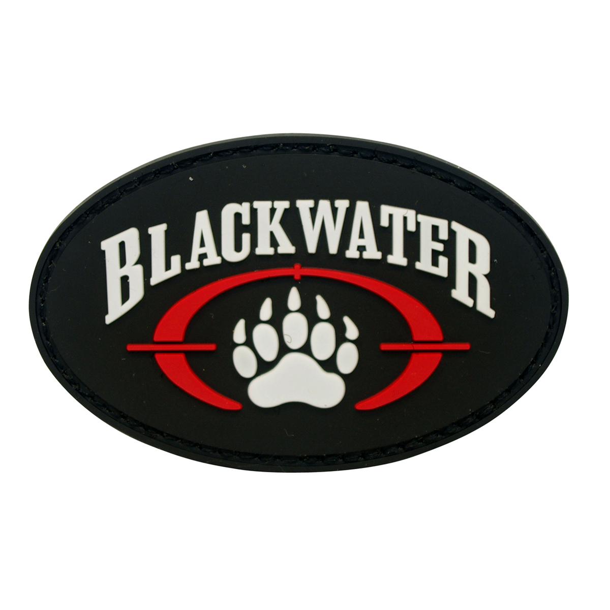Blackwater Security Team Logo with paw PVC Patch with Hook & Loop Airsoft.