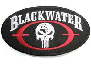 BLACKWATER Punisher Skull Iron On Embroidered Patch 3.7\