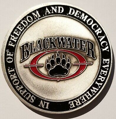 BLACKWATER ParaMilitary Training & Security Solutions XE SERVICES ACADEMI  Coin.