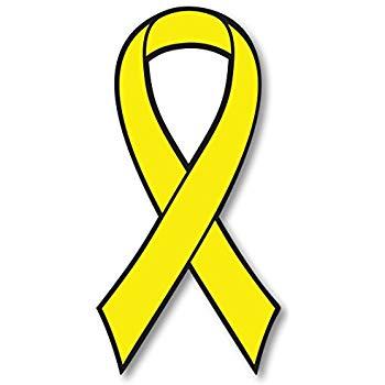 Yellow Bladder Cancer Awareness Ribbon Car Magnet Decal Heavy Duty  Waterproof.