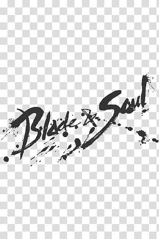 BnS iDevice Wall, Blade & Soul text transparent background.