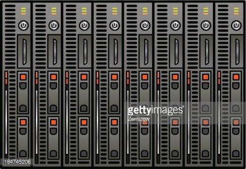 Blade Server premium clipart.