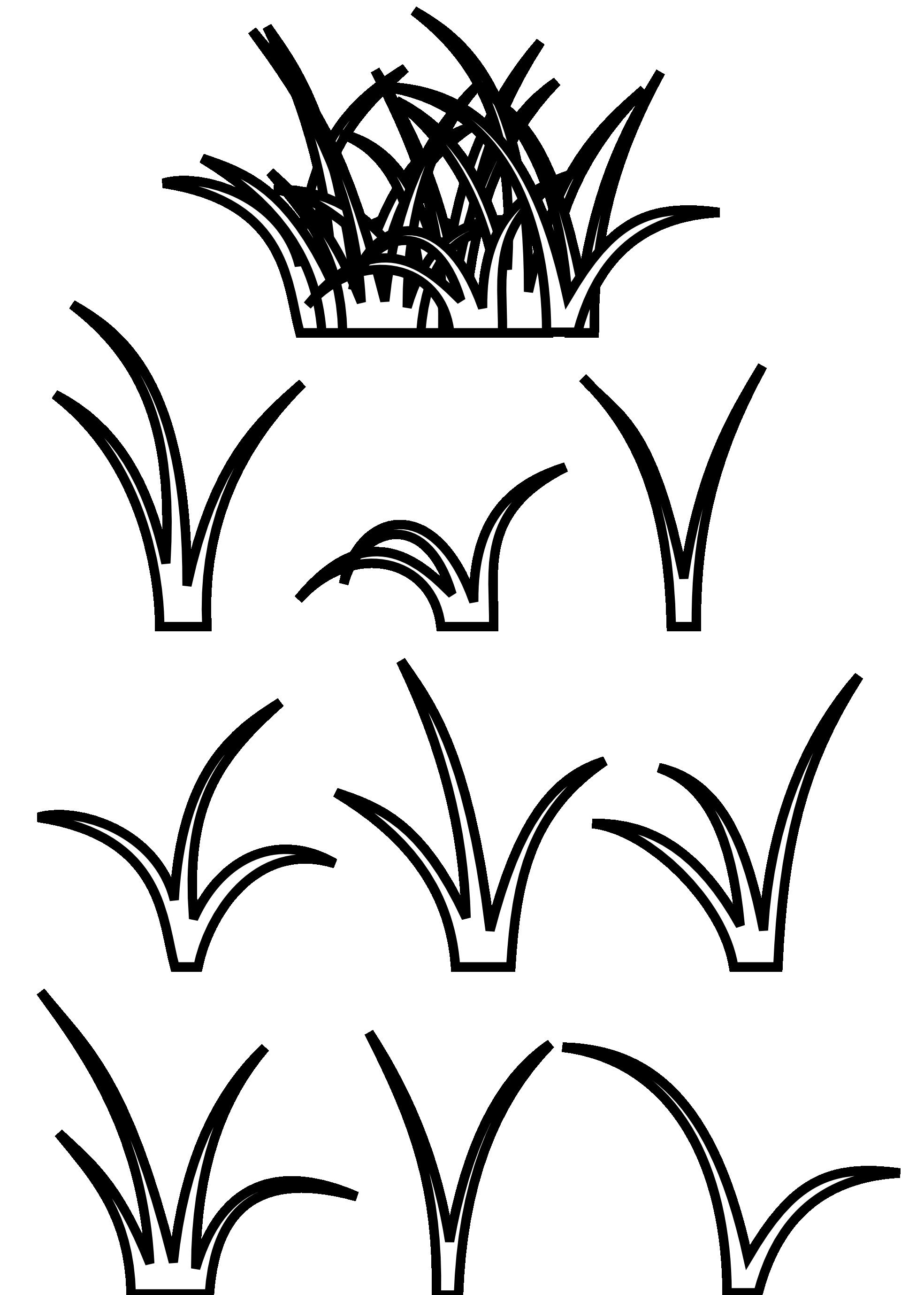 Blades of Grass Clip Art.