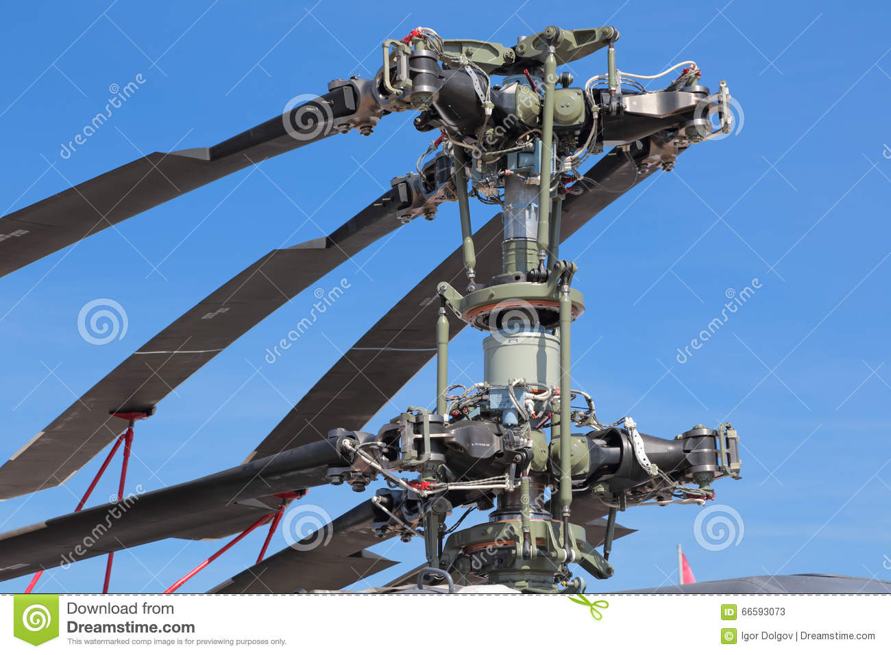 Folding Coaxial Blades Of The Helicopter Editorial Stock Photo.