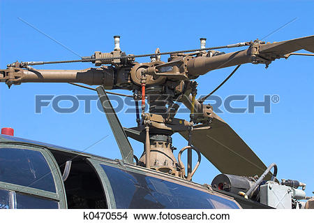 Stock Photo of helicopter blades k0470554.