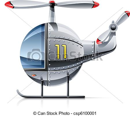 Vector Clip Art of helicopter vector illustration isolated on.