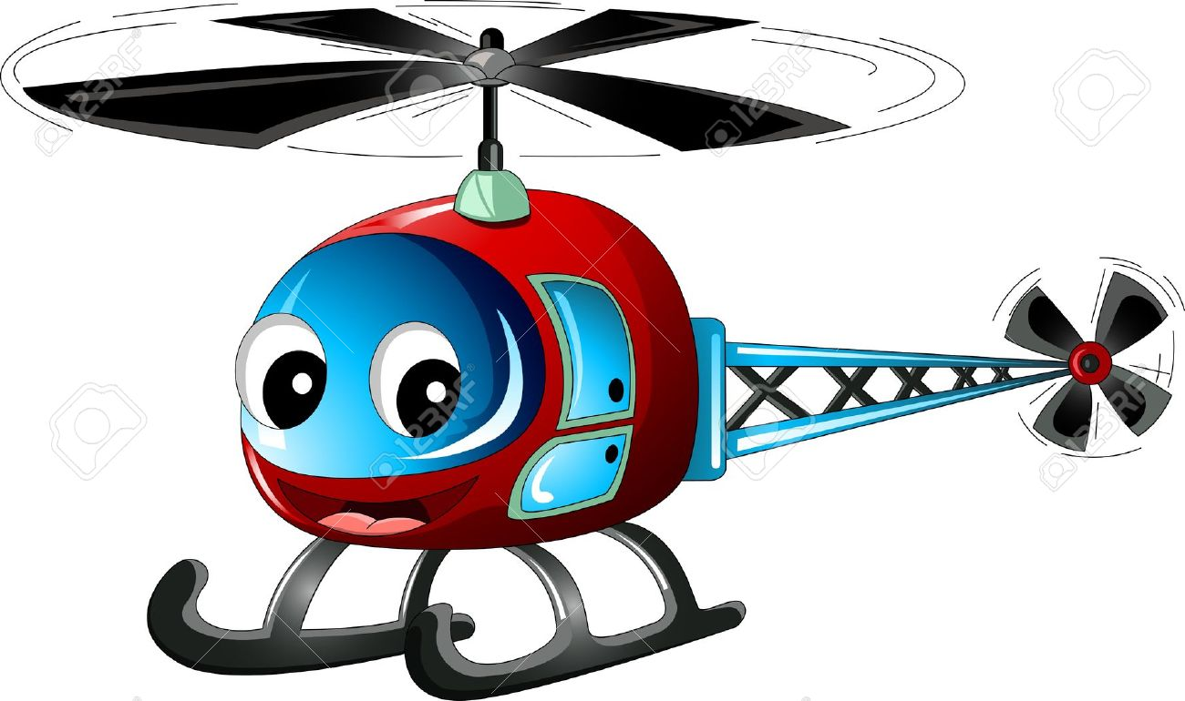 Cute Helicopter Cartoon Royalty Free Cliparts, Vectors, And Stock.