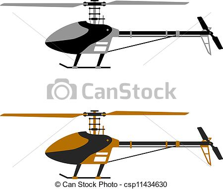 Vectors of vector helicopter rc model icons csp11434630.