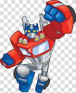 White, blue, and orange robot illustration, Transformers.