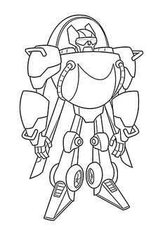 Transformers Rescue Bots Blades Coloring Pages.