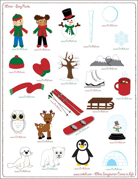 Use winter story prompts, divide paper into 3.
