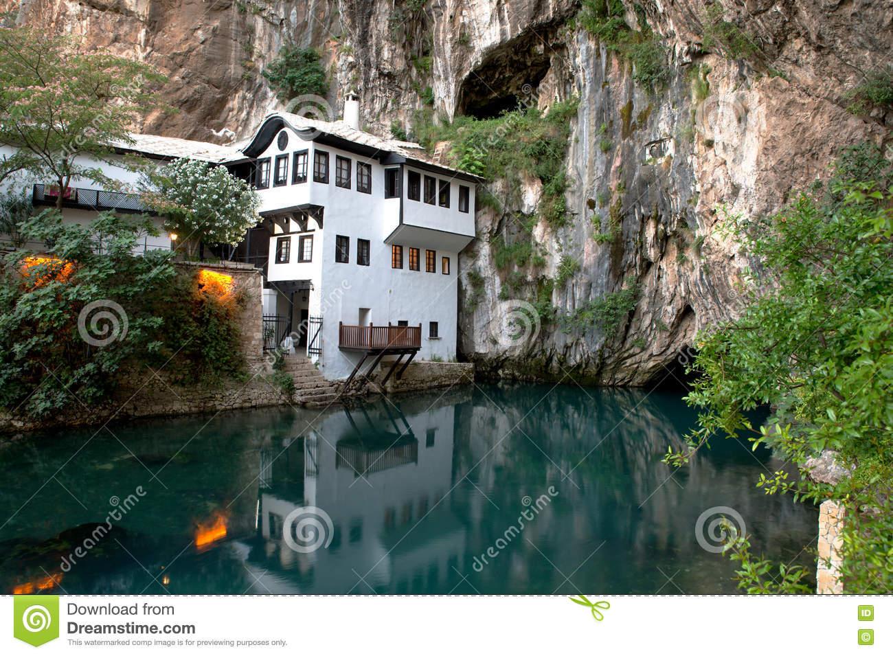 Source Of Buna River, Blagaj, Bosnia And Herzegovina Royalty Free.