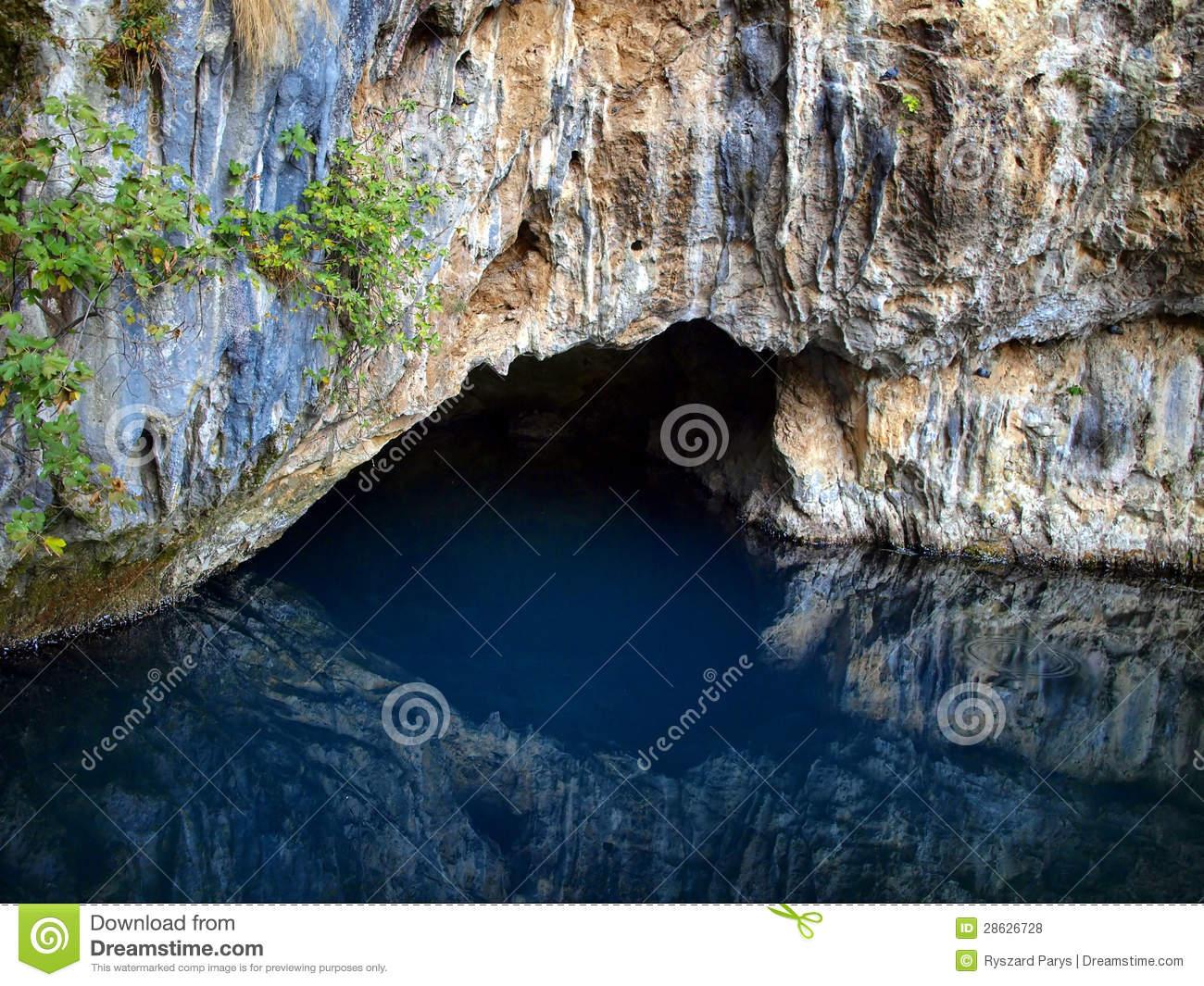 Source Of Buna River Near The Monastery Of Blagaj Stock Photo.