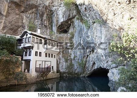 Stock Photo of Tekija By The Buna River, Blagaj, Herzegovina.