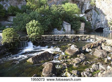 Stock Photo of Dam On The Buna River And Tekija, Blagaj.