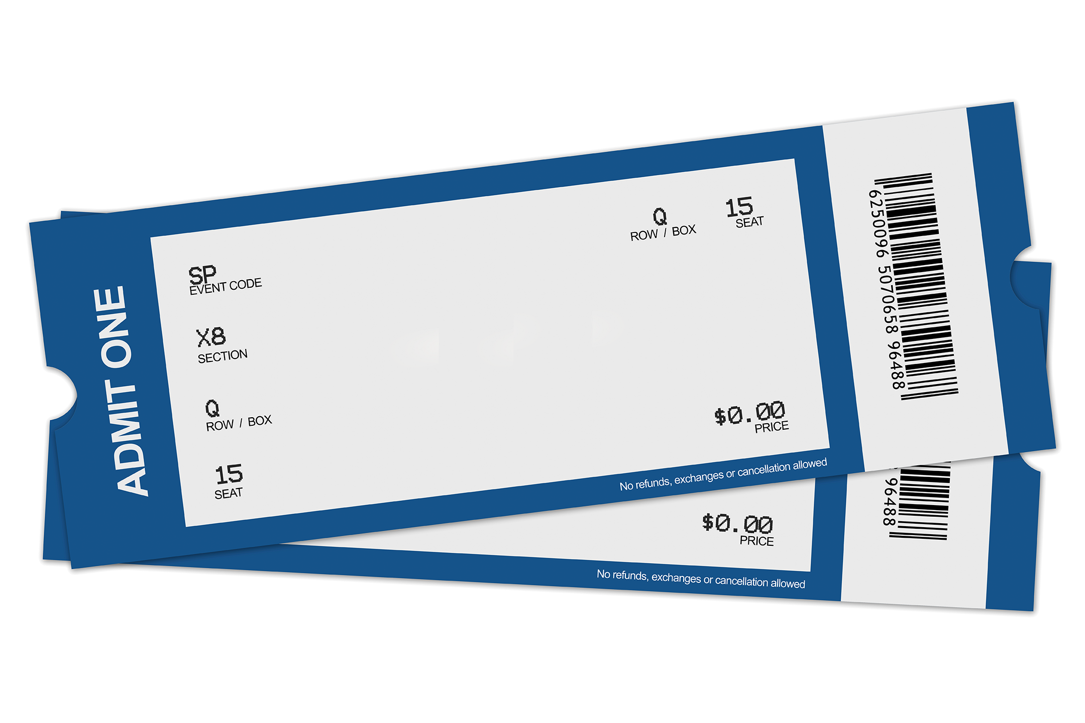 Blank ticket png Transparent pictures on F.