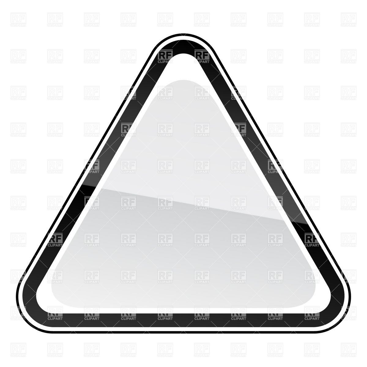 Blank road sign clipart black and white.