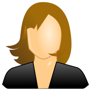 3764 female avatar clipart.