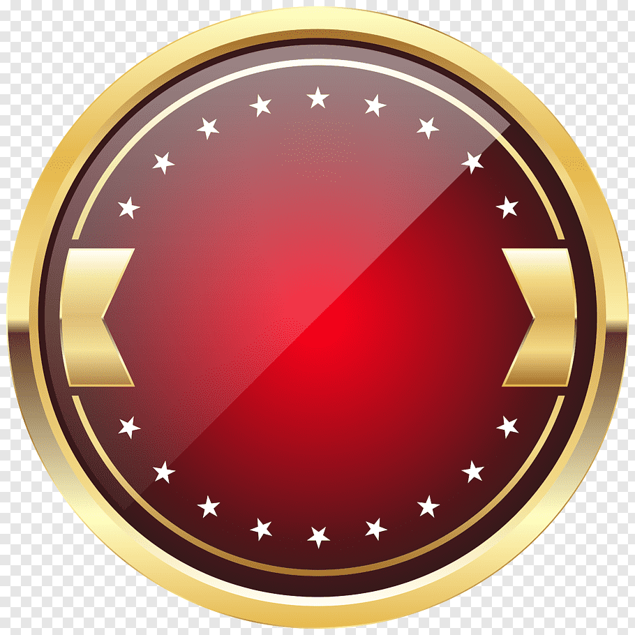Red and brown logo, Badge, Red Badge Template free png.